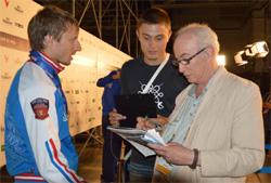 Venyiamin Resetnyikov (b) és a szerző (j)
