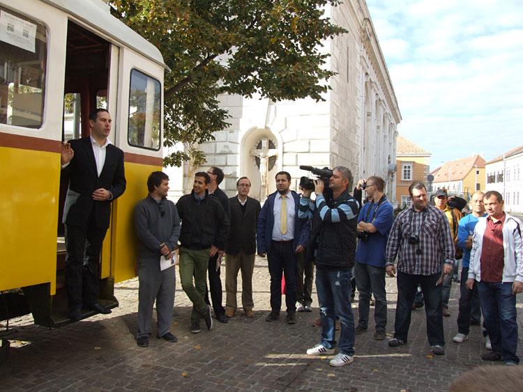 Csizi Péter, Pécs alpolgármestere köszöntőt mond