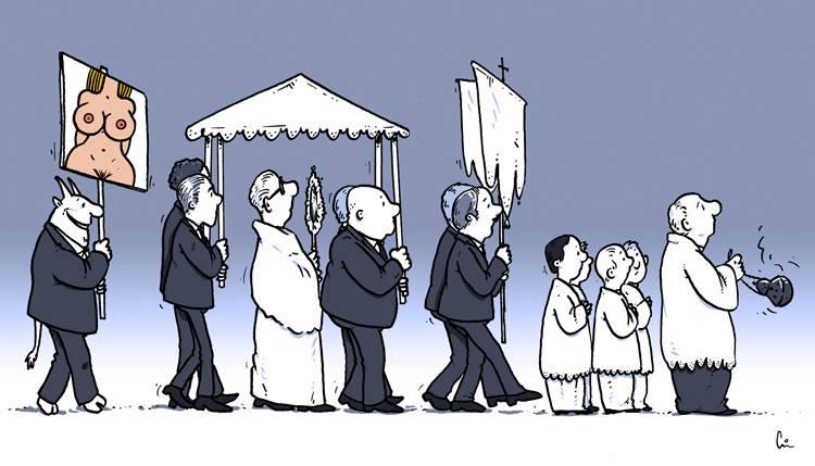 Kinek a pap, kinek a papné