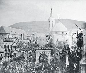 I. Ferenc József pécsi látogatása
