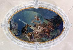 Gebauer Ernő freskója, Babarc (Komlós Attila fotódokumentációja)