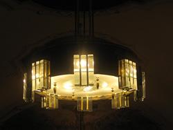 A templom új csillárja