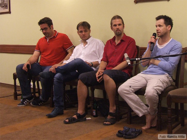 Szakmai beszélgetés A tanítónő Lévai Balázs, Őze Áron, Kovács Bálint, Rusznyák Gábor (június 13.)