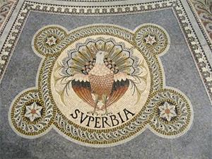 Superbia (mozaik, Basilique Notre-Dame de Fourviere)