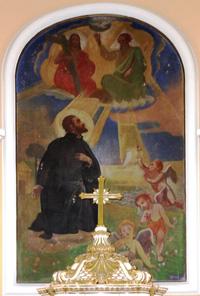 Gebauer Ernő Xavéri Szent Ferenc freskója