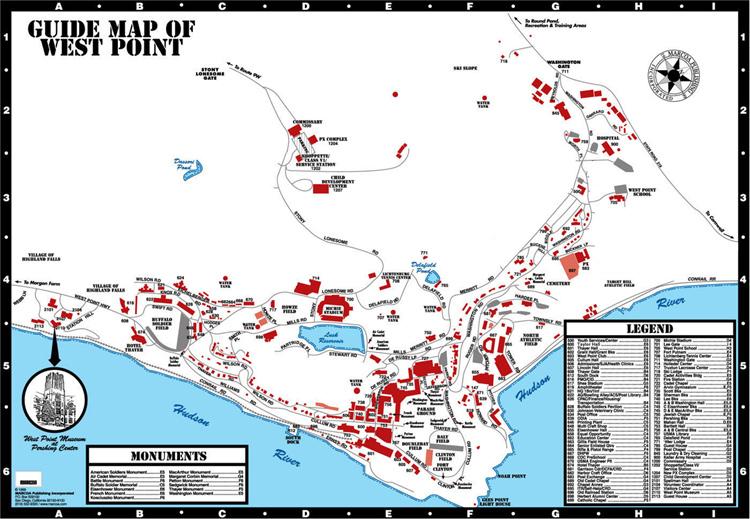 West Point térképe