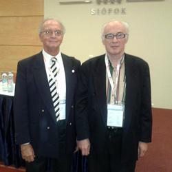 Farsang Csaba professzor a szerzővel