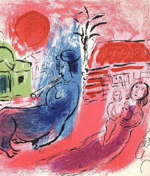 Chagall: Maternity with Centaur (1957) színes litográfia