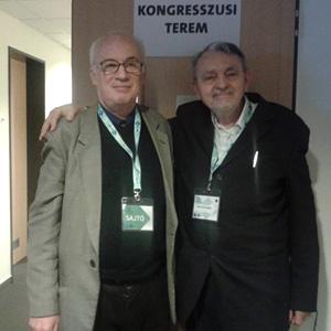 Dr. Papp István Csongor (j) a szerzővel