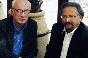 G. Németh György (j) a szerző társaságában