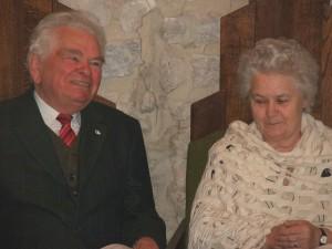 Panni nénivel a 2008-as díjátadáson a Pécsváradi Várban