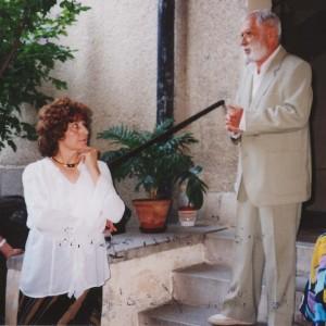 Judit Hagner és Kisbalázs György (Bogádi Kis György) 2002 őszén, Judit Hagner kiállításának megnyitóján Nőt Béláék Műhelygalériájában
