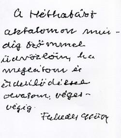 Faludy György kézírása