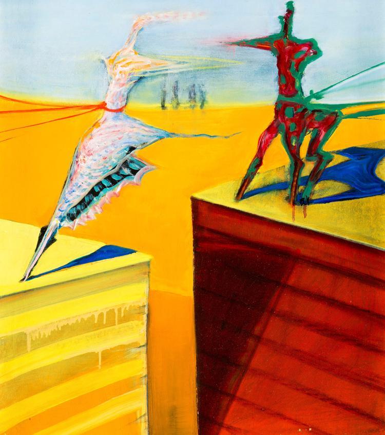 Tengerparti balett 1982 - hullámpapír, olaj - A. Gyűjtemény