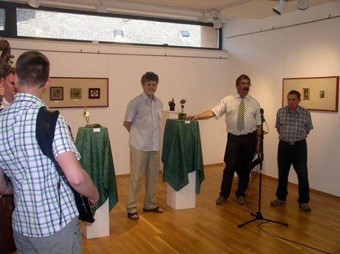 Balról jobbra: Szigeti Szabó János, Köveskuti Péter és Ferkov Jakab a kiállítás megnyitóján
