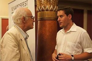 Baráti Kristóf a szerzővel beszélget a 2015 évi Kaposfesten