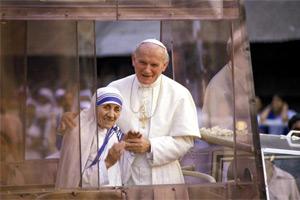 Teréz anya és II. János Pál pápa