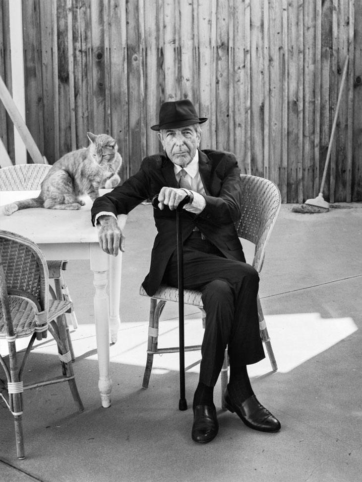 Leonard Cohen Los Angeles-i otthonában 2016. szeptemberében Fotó: Graeme Mitchell Forrás: The New Yorker
